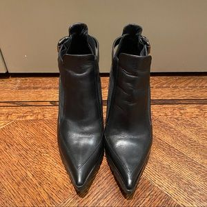 Black leather Italian Ankle Boots Size 9